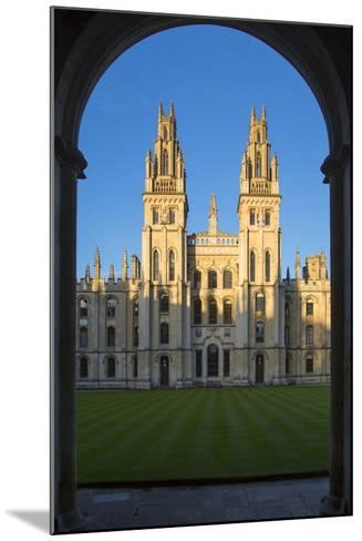 All Souls College, Oxford, Oxfordshire, England-Brian Jannsen-Mounted Photographic Print