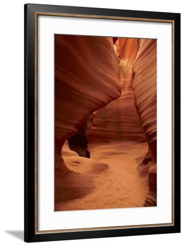 Arizona, Navajo Nation, Eroded Sandstone Formations and Tumbleweed-David Wall-Framed Art Print