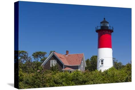 Massachusetts, Cape Cod, Eastham, Nauset Light, Lighthouse-Walter Bibikow-Stretched Canvas Print