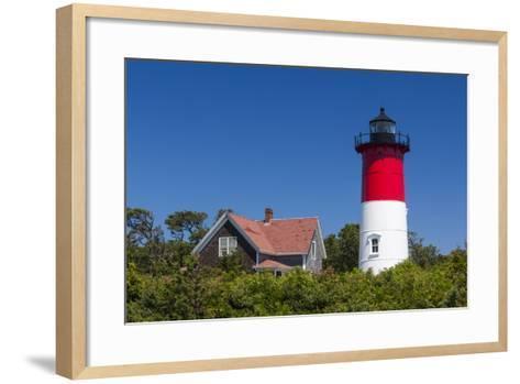 Massachusetts, Cape Cod, Eastham, Nauset Light, Lighthouse-Walter Bibikow-Framed Art Print
