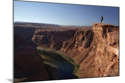 Arizona, Tourists at Overlook to the Colorado River at Horseshoe Bend-David Wall-Mounted Photographic Print