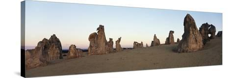 Australia, Cervantes, View of Pinnacle Desert in Nambung National Park at Sunrise-Paul Souders-Stretched Canvas Print