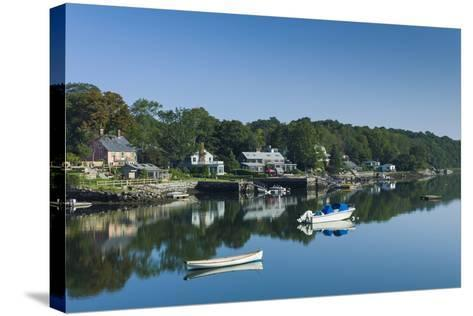 Massachusetts, Gloucester, Annisquam, Lobster Cove-Walter Bibikow-Stretched Canvas Print