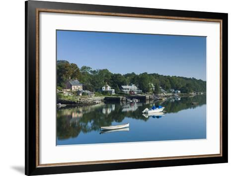 Massachusetts, Gloucester, Annisquam, Lobster Cove-Walter Bibikow-Framed Art Print