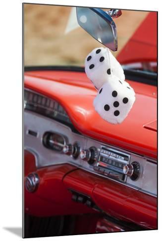 Massachusetts, Gloucester, Antique Car Show, Fuzzy Dice-Walter Bibikow-Mounted Photographic Print