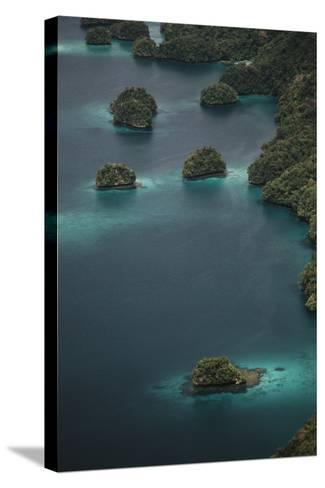 Micronesia, Palau, Aerial View of Rock Islands and World Heritage Site-Stuart Westmorland-Stretched Canvas Print