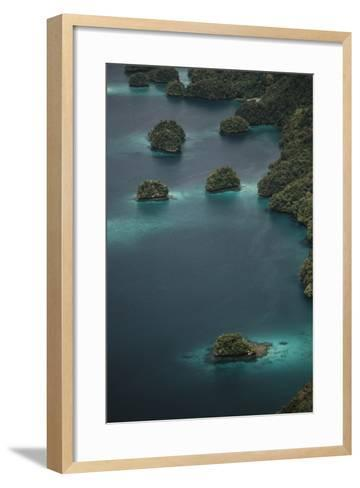 Micronesia, Palau, Aerial View of Rock Islands and World Heritage Site-Stuart Westmorland-Framed Art Print