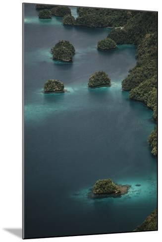 Micronesia, Palau, Aerial View of Rock Islands and World Heritage Site-Stuart Westmorland-Mounted Photographic Print