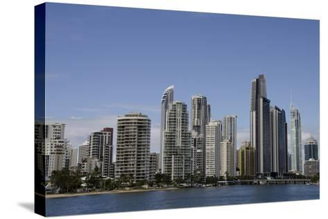 Australia, Queensland, Gold Coast. Waterfront View of Surfers Paradise-Cindy Miller Hopkins-Stretched Canvas Print