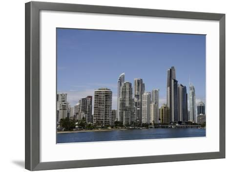 Australia, Queensland, Gold Coast. Waterfront View of Surfers Paradise-Cindy Miller Hopkins-Framed Art Print