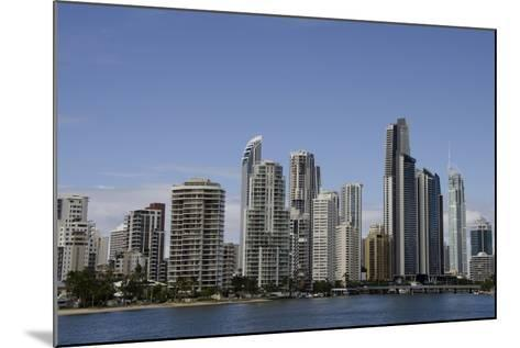 Australia, Queensland, Gold Coast. Waterfront View of Surfers Paradise-Cindy Miller Hopkins-Mounted Photographic Print