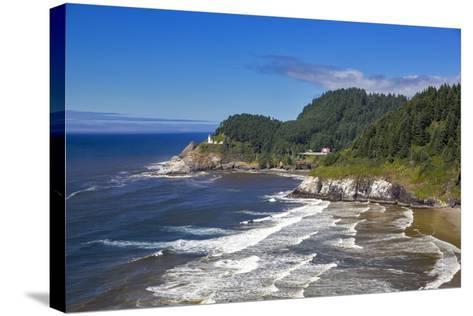 Heceta Head Lighthouse Near Florence, Oregon, USA-Chuck Haney-Stretched Canvas Print