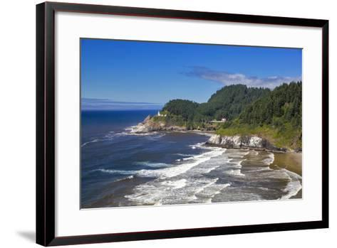 Heceta Head Lighthouse Near Florence, Oregon, USA-Chuck Haney-Framed Art Print