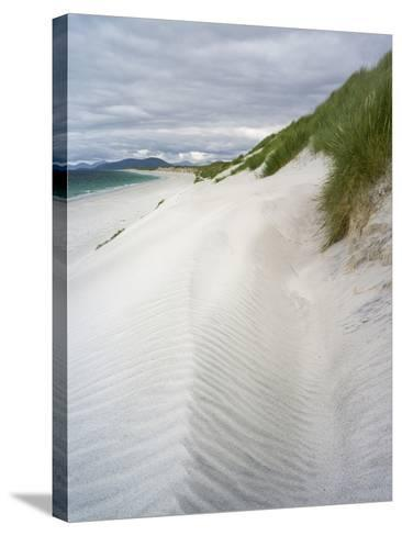 Berneray Is, Bearnaraidh, West Beach with the Mts of Harris . Scotland-Martin Zwick-Stretched Canvas Print