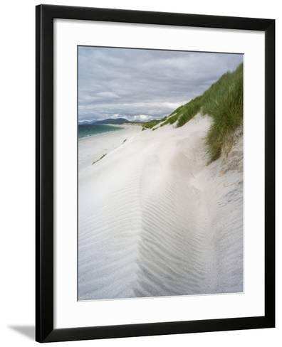 Berneray Is, Bearnaraidh, West Beach with the Mts of Harris . Scotland-Martin Zwick-Framed Art Print
