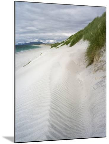 Berneray Is, Bearnaraidh, West Beach with the Mts of Harris . Scotland-Martin Zwick-Mounted Photographic Print