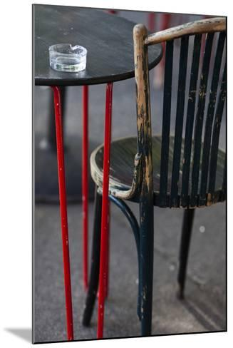 Australia, Victoria, Melbourne, Fitzroy, Gertrude Street, Cafe Table-Walter Bibikow-Mounted Photographic Print