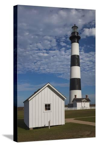 North Carolina, Outer Banks National Seashore, Bodie Island Lighthouse-Walter Bibikow-Stretched Canvas Print
