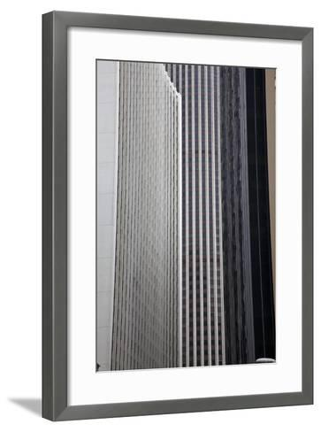 China, Hong Kong, Skyline Architecture of Hong Kong-Terry Eggers-Framed Art Print