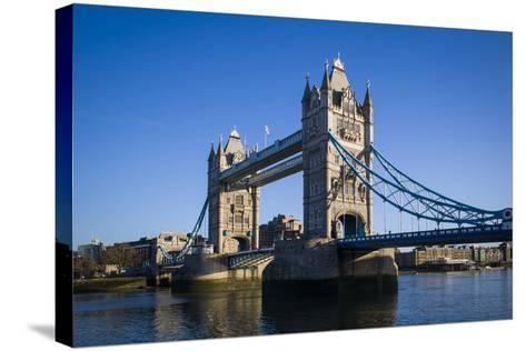 England, London, City, Tower Bridge, Morning-Walter Bibikow-Stretched Canvas Print