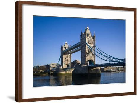 England, London, City, Tower Bridge, Morning-Walter Bibikow-Framed Art Print