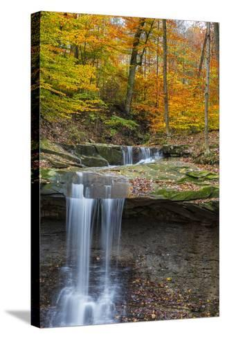 Blue Hens Falls in Autumn in Cuyahoga National Park, Ohio, USA-Chuck Haney-Stretched Canvas Print