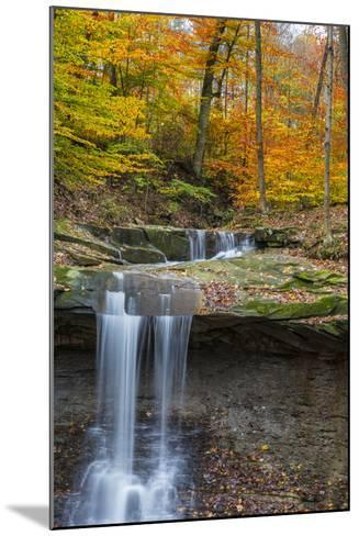 Blue Hens Falls in Autumn in Cuyahoga National Park, Ohio, USA-Chuck Haney-Mounted Photographic Print