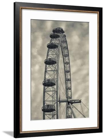 England, London, London Eye, Morning-Walter Bibikow-Framed Art Print