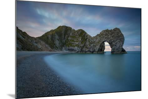 Dawn over Durdle Door Along the Jurassic Coast, Dorset, England-Brian Jannsen-Mounted Photographic Print