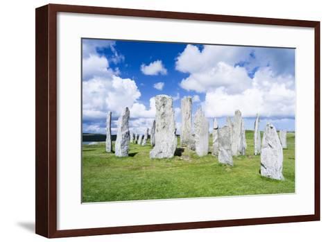 Standing Stones of Callanish, Isle of Lewis, Western Isles, Scotland-Martin Zwick-Framed Art Print