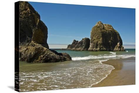 Sea Stacks, Low Tide, Oceanside, Oregon, USA-Michel Hersen-Stretched Canvas Print