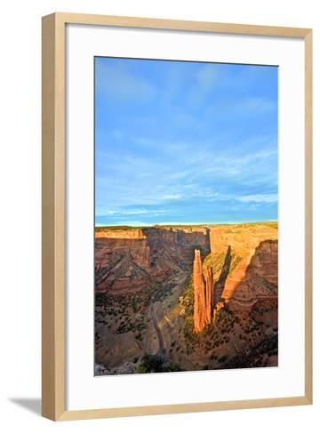 Spider Rock in Canyon De Chelly, Arizona-Richard Wright-Framed Art Print