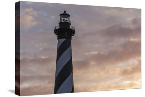 North Carolina, Buxton, Cape Hatteras Lighthouse at Sunset-Walter Bibikow-Stretched Canvas Print