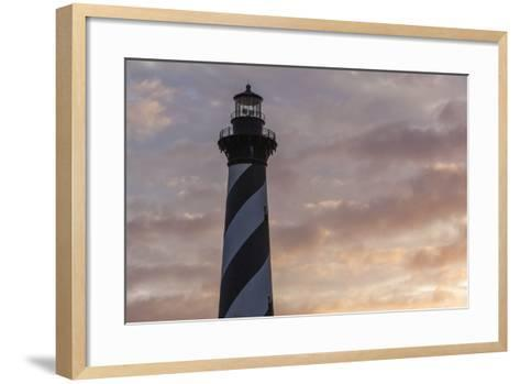 North Carolina, Buxton, Cape Hatteras Lighthouse at Sunset-Walter Bibikow-Framed Art Print