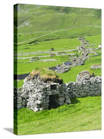 Scotland, St Kilda Archipelago, Hirta Island, Abandoned Settlement-Martin Zwick-Stretched Canvas Print