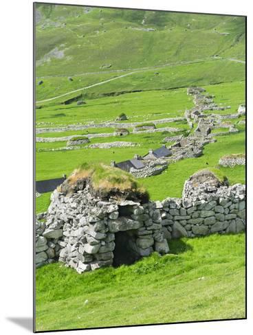 Scotland, St Kilda Archipelago, Hirta Island, Abandoned Settlement-Martin Zwick-Mounted Photographic Print
