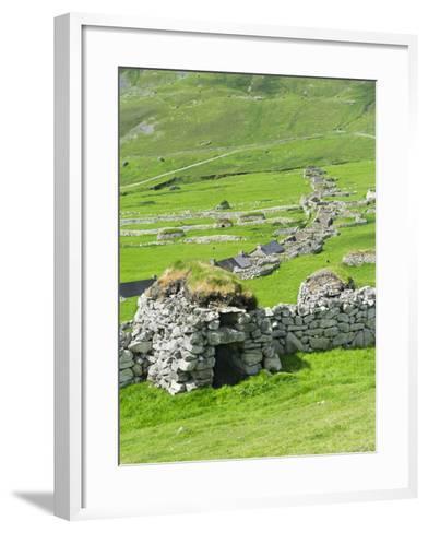 Scotland, St Kilda Archipelago, Hirta Island, Abandoned Settlement-Martin Zwick-Framed Art Print