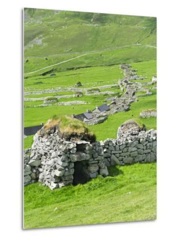 Scotland, St Kilda Archipelago, Hirta Island, Abandoned Settlement-Martin Zwick-Metal Print