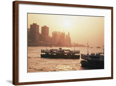 Hong Kong, Tsim Sha Tsui, View of Skyline and Star Ferry-Stuart Westmorland-Framed Art Print