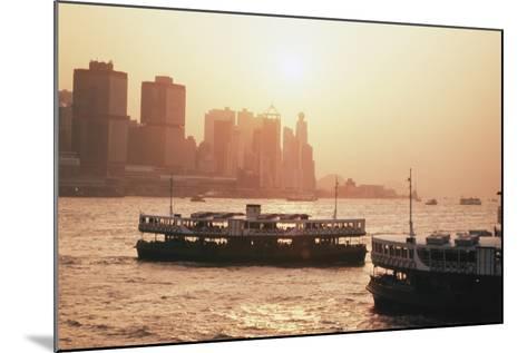 Hong Kong, Tsim Sha Tsui, View of Skyline and Star Ferry-Stuart Westmorland-Mounted Photographic Print