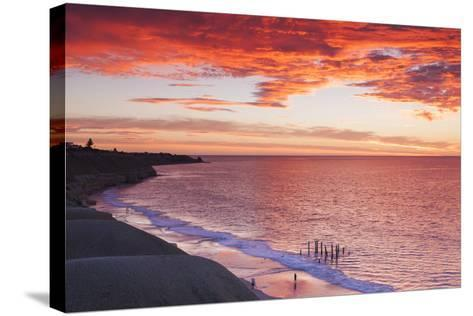 Australia, Fleurieu Peninsula, Port Willunga, Sunset-Walter Bibikow-Stretched Canvas Print