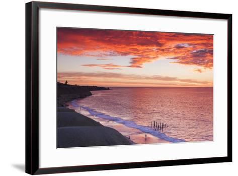 Australia, Fleurieu Peninsula, Port Willunga, Sunset-Walter Bibikow-Framed Art Print