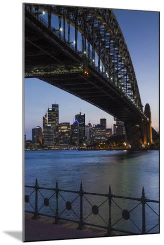 Australia, Sydney Harbor Bridge and Skyline from Milsons Point-Walter Bibikow-Mounted Photographic Print