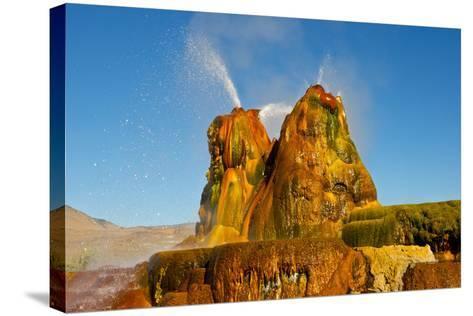 USA, Nevada, Gerlach, Fly Geyser, Black Rock Desert-Bernard Friel-Stretched Canvas Print