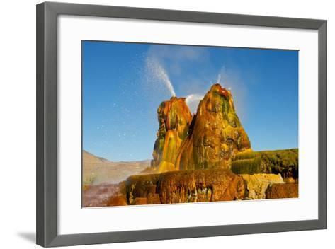 USA, Nevada, Gerlach, Fly Geyser, Black Rock Desert-Bernard Friel-Framed Art Print