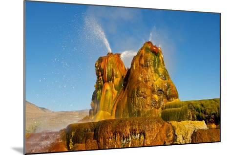 USA, Nevada, Gerlach, Fly Geyser, Black Rock Desert-Bernard Friel-Mounted Photographic Print
