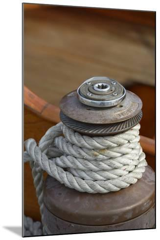 Washington State, Port Townsend. Barient Winch on an Old Wood Sailboat-Kevin Oke-Mounted Photographic Print