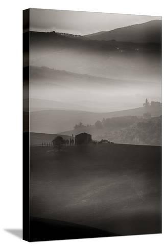 Small Rock Shed in the Vineyards in the Rolling Hills of Tuscany-Terry Eggers-Stretched Canvas Print