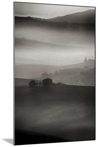 Small Rock Shed in the Vineyards in the Rolling Hills of Tuscany-Terry Eggers-Mounted Photographic Print