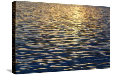 Canada, Sidney Island. Sunset Reflected in Gentle Waves at Sidney Spit-Kevin Oke-Stretched Canvas Print